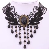 Jual Yazilind Women Black Rhinestonec Adjustable Necklace Yazilind Online