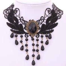 Review Pada Yazilind Women Black Rhinestonec Adjustable Necklace