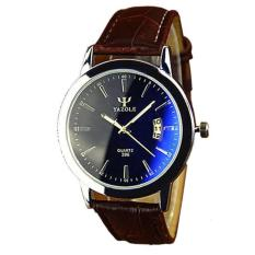 296 Kualitas Merek Watch Pria Watches Male Clock Leather Strap QUARTZ Watch Pergelangan Tangan Kalender Tanggal Kuarsa-watch Cokelat Hitam YAZOLE