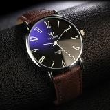 Diskon 299 Wrist Watch Pria 2016 Top Merek Mewah Terkenal Male Clock Jam Kuarsa Keemasan Arloji Kuarsa Watch Cokelat Hitam Yazole Yazole Di Tiongkok