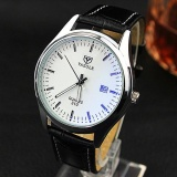 Jual Yazole 310 Men Luminous Calendar Business Watches White And Black Intl Import