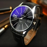 Review Yazole 315 Pria Bisnis Sederhana Quartz Watches Hitam Intl Tiongkok