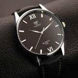 Cuci Gudang Yazole 318 Men S Simple Waterproof Roman Watch Business Watch Black Intl