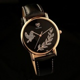 Review Terbaik Yazole 360 Women Fashion Korean Fashion Hand Quartz Watch Black And Black Intl