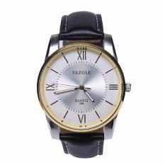 Jual Yazole Jam Tangan Pria Business Quartz Wristwatches Sport Quartz 348 White Black Import