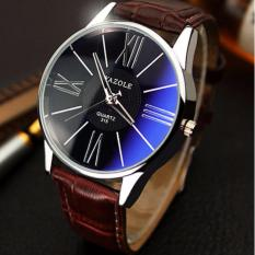 Katalog Yazole Jam Tangan Pria Quartz Leather Band 315 Brown Black Yazole Terbaru