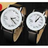 Beli Yazole Pecinta Quartz Jam Tangan Wanita Men Merek Terkenal Wrist Watch Wanita Pria Clock Wanita Jam Tangan Untuk Wanita Pria 1 Pair 2 Pieces Intl Nyicil