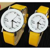 Harga Yazole Pecinta Quartz Jam Tangan Wanita Men Merek Terkenal Wrist Watch Wanita Pria Clock Wanita Jam Tangan Untuk Wanita Pria 1 Pair 2 Pieces Intl Yazole Asli