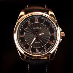 Ulasan Mengenai Yazole Original Apollo Yz336 Jam Tangan Kulit Pria Top Luxury Watch Men Watches Business Male Quartz Analog Wristwatch Waterproof Wr Resistance Dasar Hitam Hitam