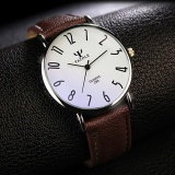 Beli Yazole Quality Brand Watch Men Watches Male Clock Leather Strap Quartz Watch Wrist Calendar Date Ayzl299 A Brown Intl