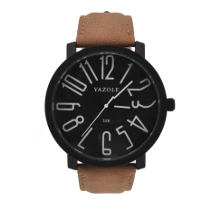 Jual Yazole Stainless Steel Sport Analog Quartz Wrist Watch Hitam Coklat Antik