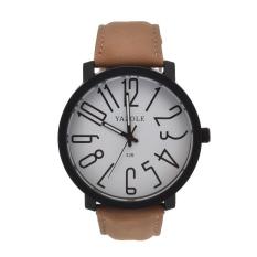 Spesifikasi Yazole Stainless Steel Sport Analog Quartz Wrist Watch Putih Coklat Lengkap