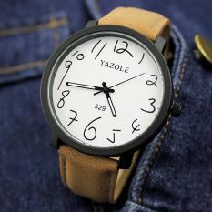 Spesifikasi Yazole Top Luxury Brand Watches Fashion Men Quartz Watch Male Sport Wristwatches Quartz Watch Yzl329 Brown Intl Merk Yazole