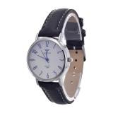 Harga Yazole Unisex Tanggal Kulit Stainless Steel Kuarsa Olahraga Militer Wrist Watch Putih Hitam Branded