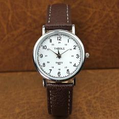 Harga Yazole Bisnis Wanita Tahan Air Kulit Quartz 24 Jam Wrist Watch Putih Coklat Yazole Baru
