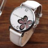 Harga Yazole Women Flower Quartz Wrist Watch Putih Ungu Satu Set