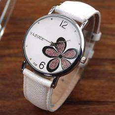 Toko Yazole Women Flower Quartz Wrist Watch Putih Ungu Lengkap Tiongkok