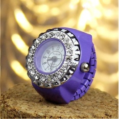 YBC Fashion Wanita Kristal Cincin Watch Steel Stretchy QUARTZ Watches Hadiah