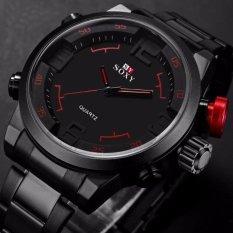 Jual Ybc Pria Analog Digital Kuarsa Baja Funland Waterproof Stainless Steel Tanggal Watches Intl Baru