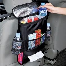 YBC Multifunction Car Seat Back Storage Bag Grocery Bags Black (MY)