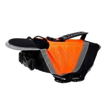 Yesefus Terang Dog Life Jacket, Tahan Lama Dog Life Vest untuk Anjing atau Kucing Anda, Reflektif Dog Life Pertahankan Large, Orange-Intl