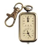 Harga Yesurprise Antik Klasik Analog Dual Time Pocket Gantungan Kunci Quartz Watch Tiongkok