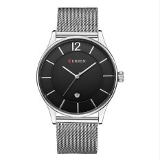 Spesifikasi Yika Fashion Luxury Men S Business Casual Range Mesh Stainless Steel Quartz Clock Thin Men S Watches Intl Terbaru
