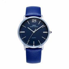 Yiuhua Berkualitas Baik IBSO Jam Tangan Real-Leather Waterproof Asli Arloji Pria Wanita 3803 (Biru)