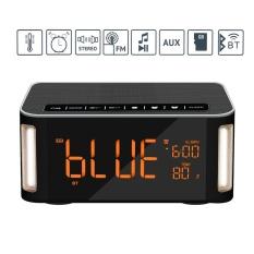 Yjjzb Otomatis Nirkabel Bluetooth Pembicara, Portabel Pembicara Jam dengan Waktu LED Tampilan dan Sudut Malam Lampu, tangan-Bebas Panggilan/FM Radio/Aux-in/TF Kartu/U Disk-Internasional