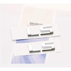 Yoaoo® 2x OEM Chrome LS Letter Lambang Lencana Paduan HHR Kompartemen Belakang Trunk Lid Chevrolet Shiny-Intl