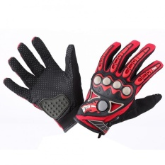 Promo Justgogo 1 Pair Motorcycle Full Finger Protective Gloves Red M