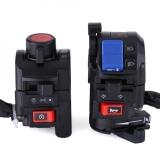 Beli Justgogo 1 Pair Motorcycle Handlebar Switch Dengan Sinyal Horn Light Light Control Control Universal Online Terpercaya