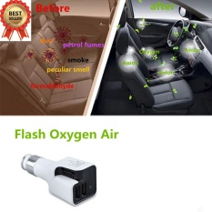Review Terbaik Yosoo Car Auto 2 In1 Dual Usb Charger Fresh Air Ionic Purifier Cleaner Intl