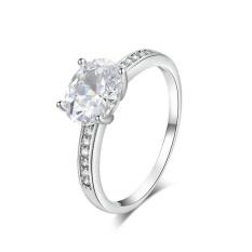 Yoursfs @ Classic 3ct Simulasi CZ Diamond Pernikahan Rings untuk Wanita Platinum Plated Oval Bentuk Big Pendant Ring Belanja Online IND-Intl