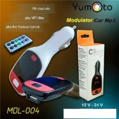 Yumoto Mp3 Fm Modulator Remote, Slot Usb & Sd/mmc Warna Random By Lanjar Jaya.