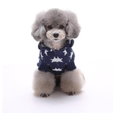 Yunmiao Liburan Meriah Natal Xmas Akrilik Peliharaan Sweter untuk Anjing Natal Kostum MYD01 Biru S Warna: MYD08 Biru Ukuran: XXL-Internasional
