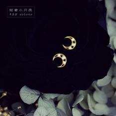 Z 14 K/S925 Gaya Jepang Kecil Cahaya Lapisan Emas Perhiasan Perak Anting