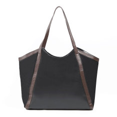 Zada Tote Wanita Tote Leather Bag - Black