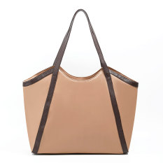 Zada Tote Wanita Tote Leather Bag - Tan