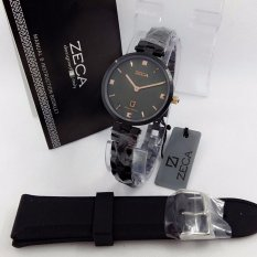 Zeca Milan Edition Watch Original ZC196 - Jam Tangan Fashion Wanita  - Full Stainless - Free Gift 1 Pc Tali Jam Cantik [Black]