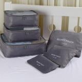 Beli Zeebee 6 In 1 Travel Organizer Bag Travel Pouch Tas Penyimpanan Grey Murah Di Banten