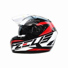 Beli Zeus Helm Full Face Double Visor Zs 806 Pearl Black Ii31 Red Baru