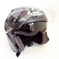 Penawaran Istimewa Zeus Helm Half Face Double Visor Zs 610K Polos Hitam Mutiara Terbaru