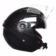 Ulasan Zeus Helm Half Face Double Visor Zs 610K Polos Matt Black