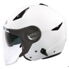 Harga Zeus Helm Half Face Double Visor Zs 612A Polos Putih Yang Murah