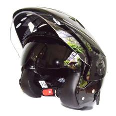 Harga Zeus Helm Half Face Double Visor Zs 612C Polos Hitam Original