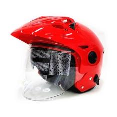 Jual Zeus Helm Half Face Double Visor Zs 612C Red Di Jawa Barat