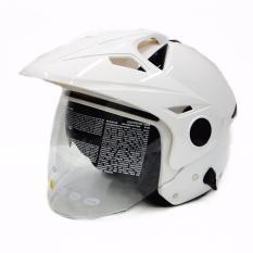 Jual Zeus Helm Half Face Double Visor Zs 612C White Zeus Di Indonesia