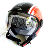 Zeus Helm Half Face Zs 210K Grafik Hitam Dd46 Merah Indonesia