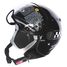 Beli Zeus Helm Half Face Zs 210K Grafik Hitam Dd62 Nyicil